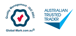 ISO9001 certification. Australian Trusted Trader